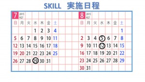 skill日程